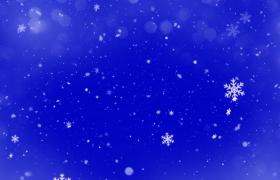 蓝色背景唯美雪花凋零大气舞台背景视频素材下载