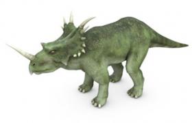 白垩纪食草类恐龙戟龙C4D模型(含材质图片)