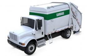 新型自动一体化城市垃圾运输车C4D(含模型贴图)