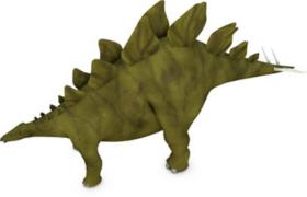 侏羅紀晚期食草類四足恐龍C4D劍龍模型(含貼圖)