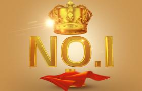 金色闪耀光芒荣耀皇冠NO.1头衔标志C4D模型(含模型贴图)