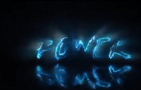 闪电特效logo文字能量描边酷炫AE展示动画视频模板