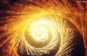 星光特效粒子圣诞节和春节开场片头AE模板