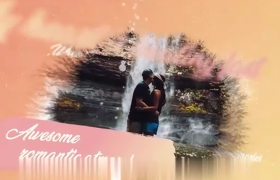 唯美浪漫水墨風婚禮回憶電子相冊AE模板