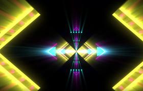 菱形隧道闪烁循环穿梭动感舞台大屏LED视频素材