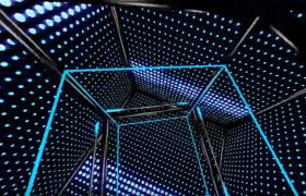 炫酷科技線條粒子抖動展示LED舞臺背景視頻素材