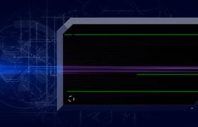 時政科技新聞在線報導藍色動感射線未來科技欄目包裝PR模板