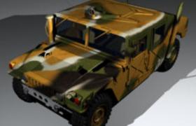 美國陸軍專用悍馬軍工制造霸氣越野汽車C4D模型hummer