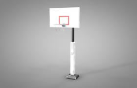 C4D建模:白色篮球框架大型体育赛事模型(含模型贴图)