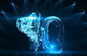 创意唯美高清科技水流汇集数字十秒倒计时视频优德w88中文版