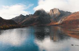 超唯美航拍秋季山水自然美景风光MP4视频素材下载