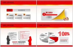 红色喜庆中国风年终总结工作计划汇报动态PPT模板