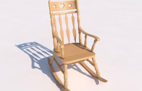 C4D家装设计:惬意的田园风光纯木质休闲椅模型展示