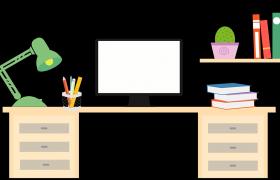 卡通2d搜索桌面动画标题关键字引入网站宣传PR模板