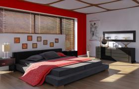 简约原木色日式设计风格加入现代元素的室内装修设计C4D卧室模型
