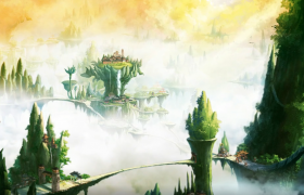 中国风古典仙侠游戏开场MG动画高清视频素材
