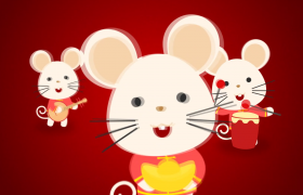 喜悦2020鼠年大气中国春节祝福开场AE模板
