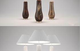 室内采光照明卧室床头创意蘑菇灯C4D模型(含贴图)