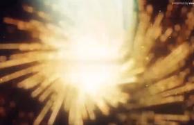 金色星光粒子汇聚圣诞节圣诞树AE模板快乐片头