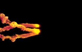 三团火焰交汇融合撞击出灰朦烟雾特效会声会影片头VSP模板