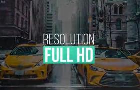 简洁时尚排版图文标题宣传片动画AE模板