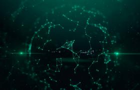 粒子匯聚科技三維點線連接影視宣傳片頭字幕展示AE模板