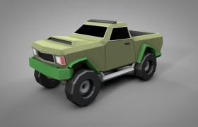 美國西部福特卡通改款大腳越野車C4D模型(含貼圖)