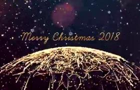 炫酷畫面粒子光斑炫光特效新年圣誕標題片頭開場AE模板