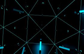 炫彩霓虹灯闪烁科技舱门层层打开循环无缝LED高清视频素材