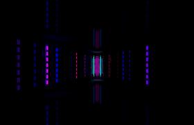 霓虹灯七彩闪烁通道前进动感唯美舞台背景LED高清视频素材