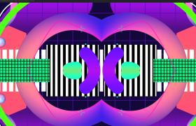 梦幻MG图形中间对称两面出现运动高清VJ视频素材下载