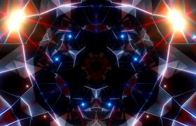 蓝色科技几何图形变换星光粒子闪耀高清舞台LED背景视频素材