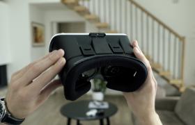 第一视角VR眼镜展示佩戴高清视频素材