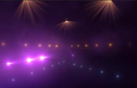 暖色调黄紫灯光秀高清音乐会灯光闪烁三维全景视频素材