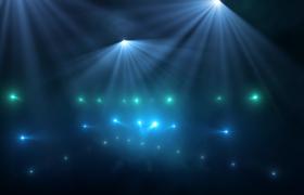 唯美闪耀的冷色调蓝绿音乐会场灯光秀高清视频素材