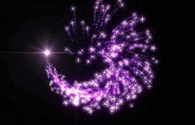 炫丽闪耀紫色十字星团唯美旋转特效视频素材下载