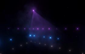 动感震撼的灯光闪烁音乐主题三维展示高清灯光秀视频素材下载
