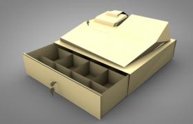 2019新款家用多功能物品收纳神器多格口抽屉C4D模型