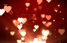 唯美动感的爱心肆意飞舞婚礼现场舞台背景七夕表白视频元素下载