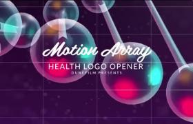 现代科技人体DNA螺旋动态动画医疗程序设备介绍logo展示PR模板