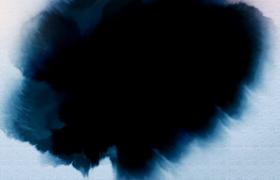4K质感宣纸背景彩色墨滴晕染文艺片头会声会影模板