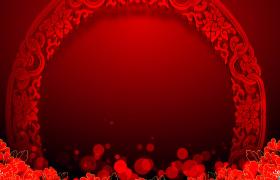 古典中国风红色光斑循环浮现端庄大气特效视频素材