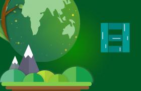 绿色主调色环保主题活动MG动画10秒倒计时会声会影模板下载