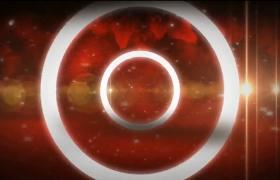 白圈魔法轉場暖色系喜慶紅色粒子特效震撼文字標題展示PR模板