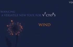 快速制作模拟文字被风吹散动画AE脚本Wind v1.02免费下载