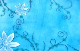 畫卷從左至右展開延伸花藤回旋生長花朵絢麗綻放無縫高清循環動態背景視頻素材