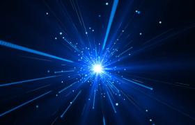 蓝色科技粒子线条三维时空穿梭唯美舞台高清LED视频素材