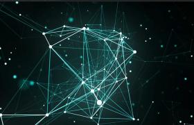 Plexus粒子三维科技动态连线图形翻转唯美高清背景视频素材