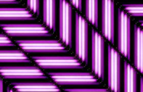 三相六通道紫色荧光灯斜行灯光秀高清动感舞台背景视频素材