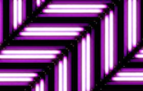 双方向四分形斜行往上动感紫色灯光秀舞台高清视频素材